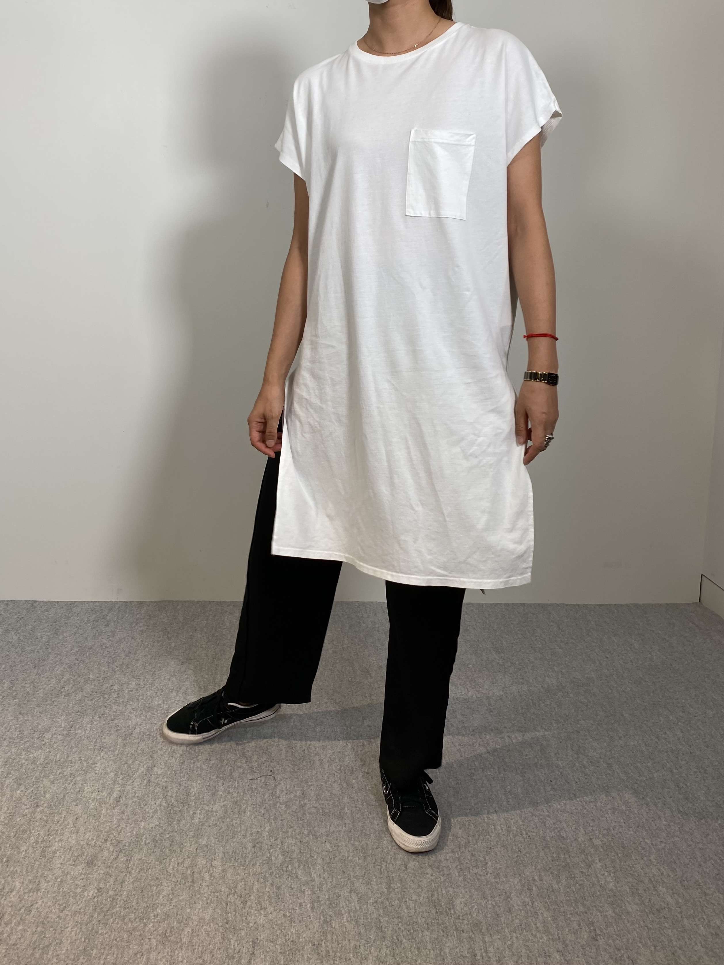 Women's COMFORT DRESS TUNIC T-SHIRTの着用画像8