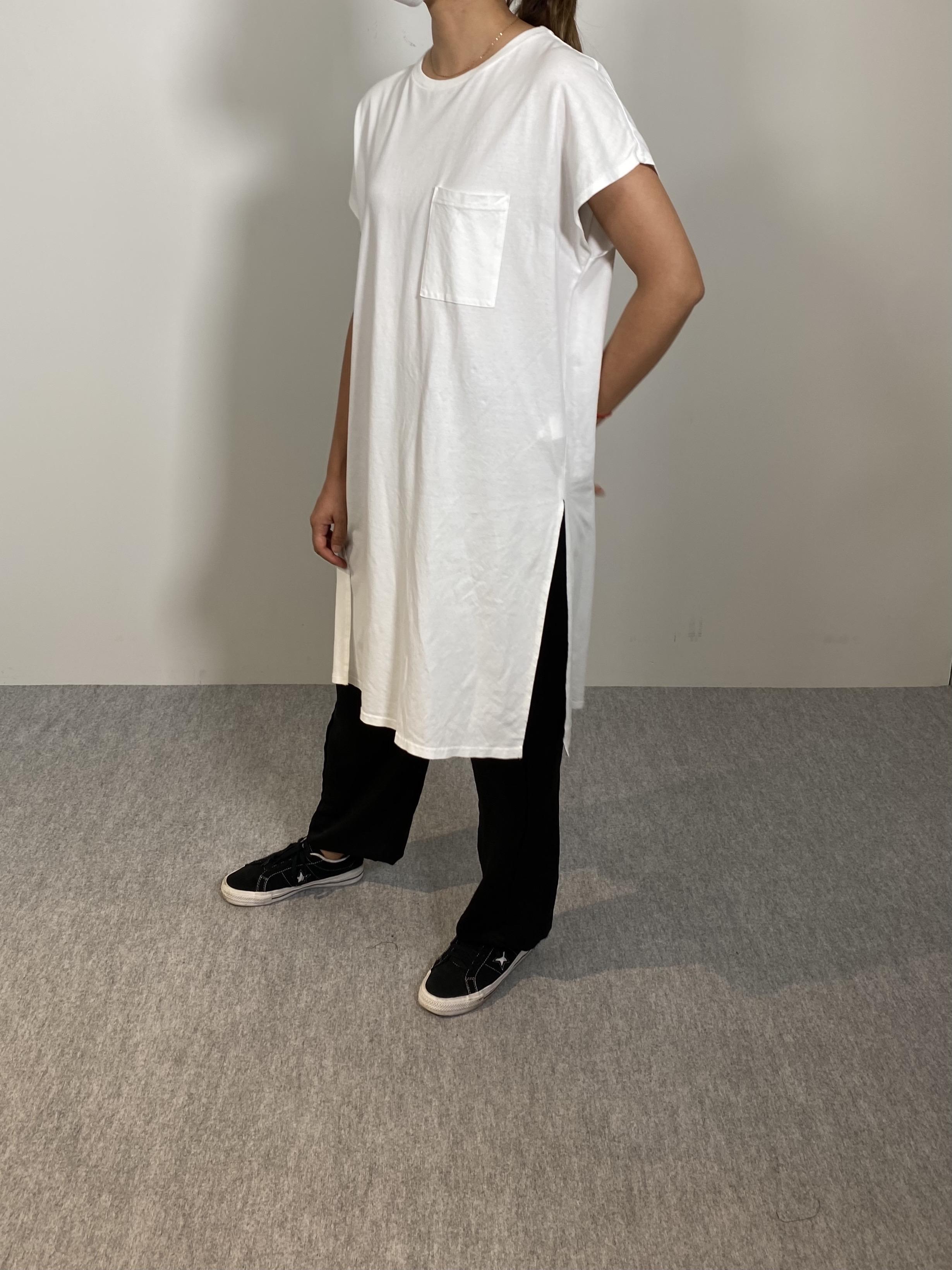 Women's COMFORT DRESS TUNIC T-SHIRTの着用画像10