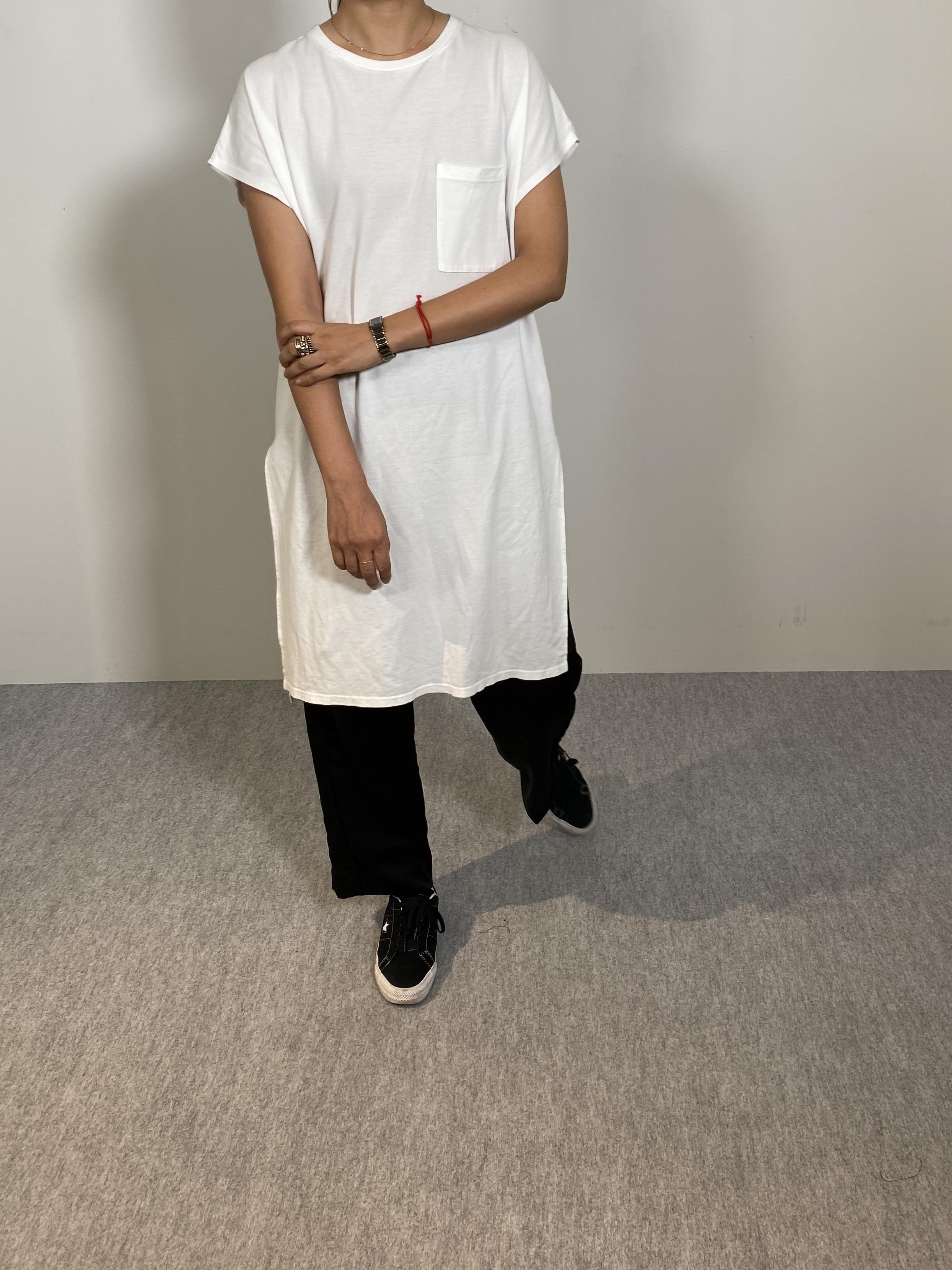 Women's COMFORT DRESS TUNIC T-SHIRTの着用画像11