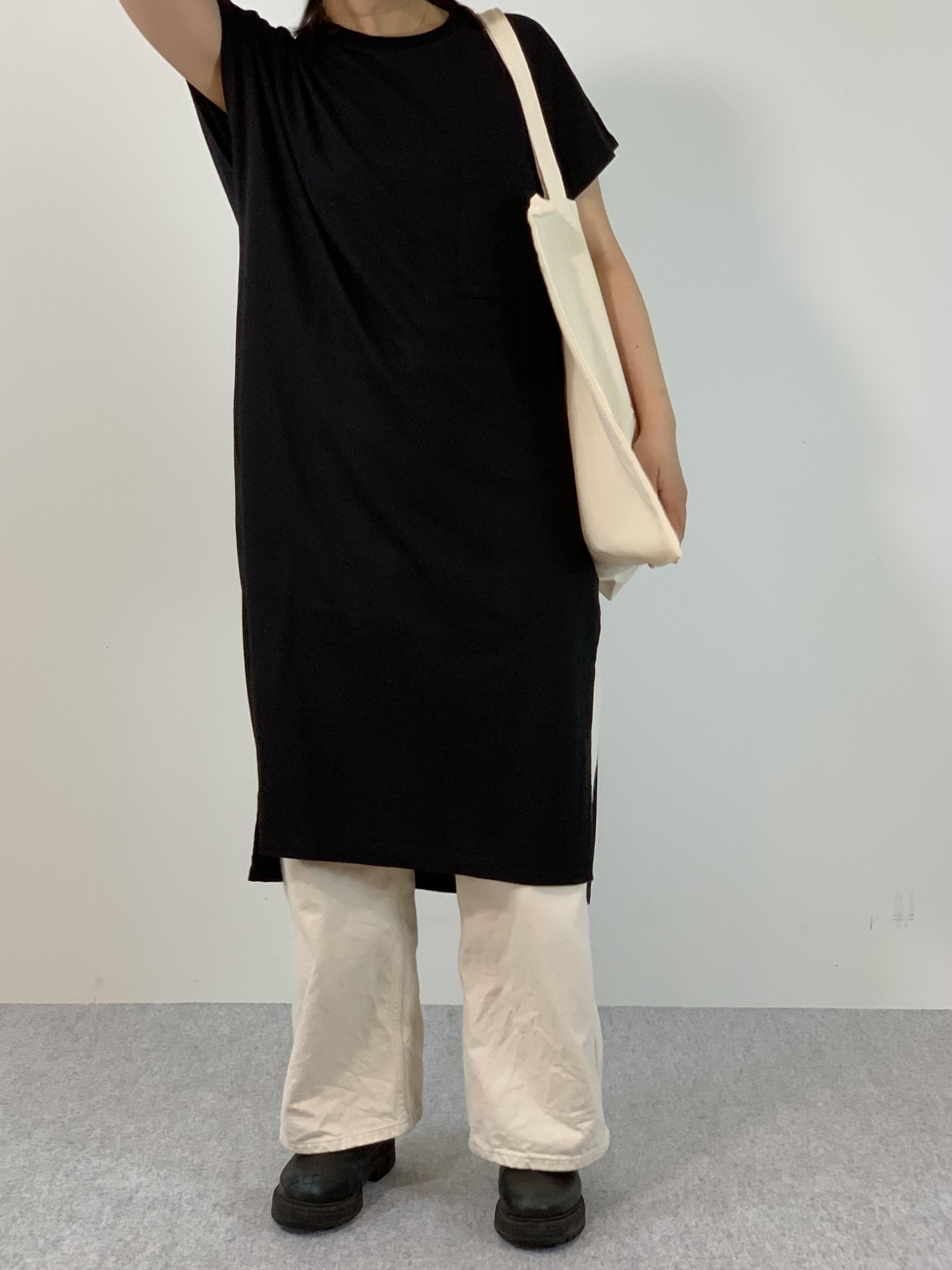 Women's COMFORT DRESS TUNIC T-SHIRTの着用画像4