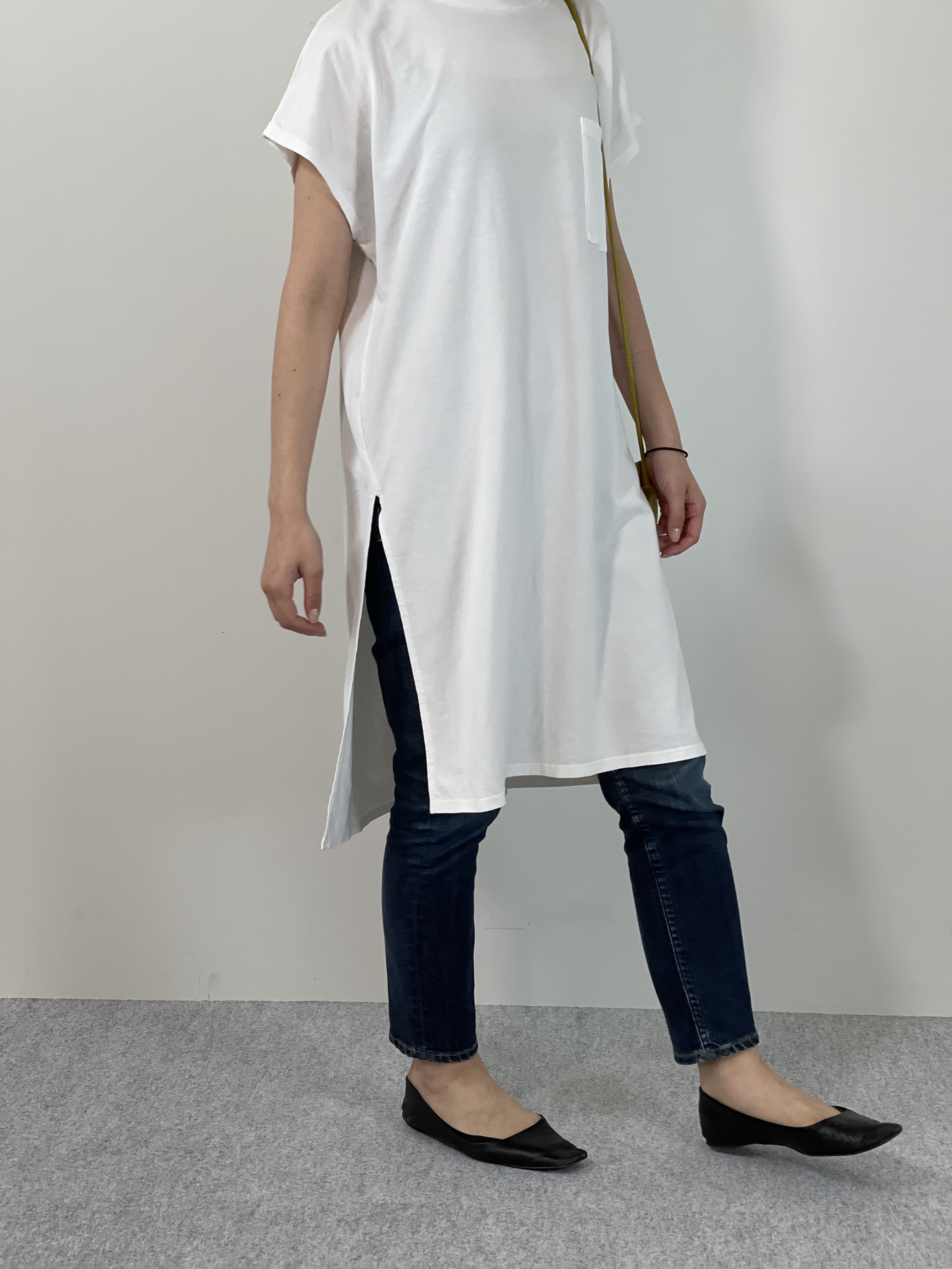 Women's COMFORT DRESS TUNIC T-SHIRTの着用画像0