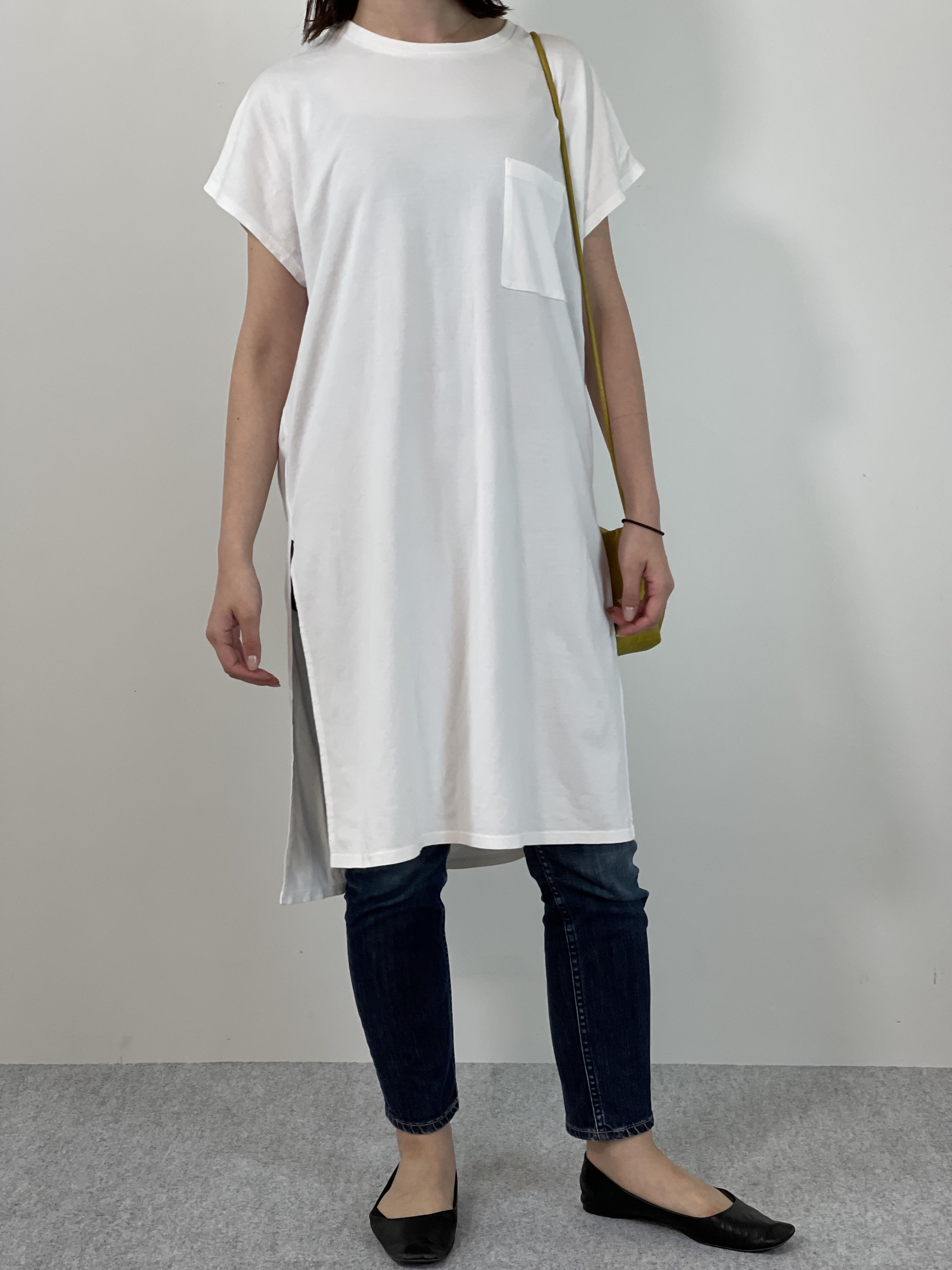 Women's COMFORT DRESS TUNIC T-SHIRTの着用画像1