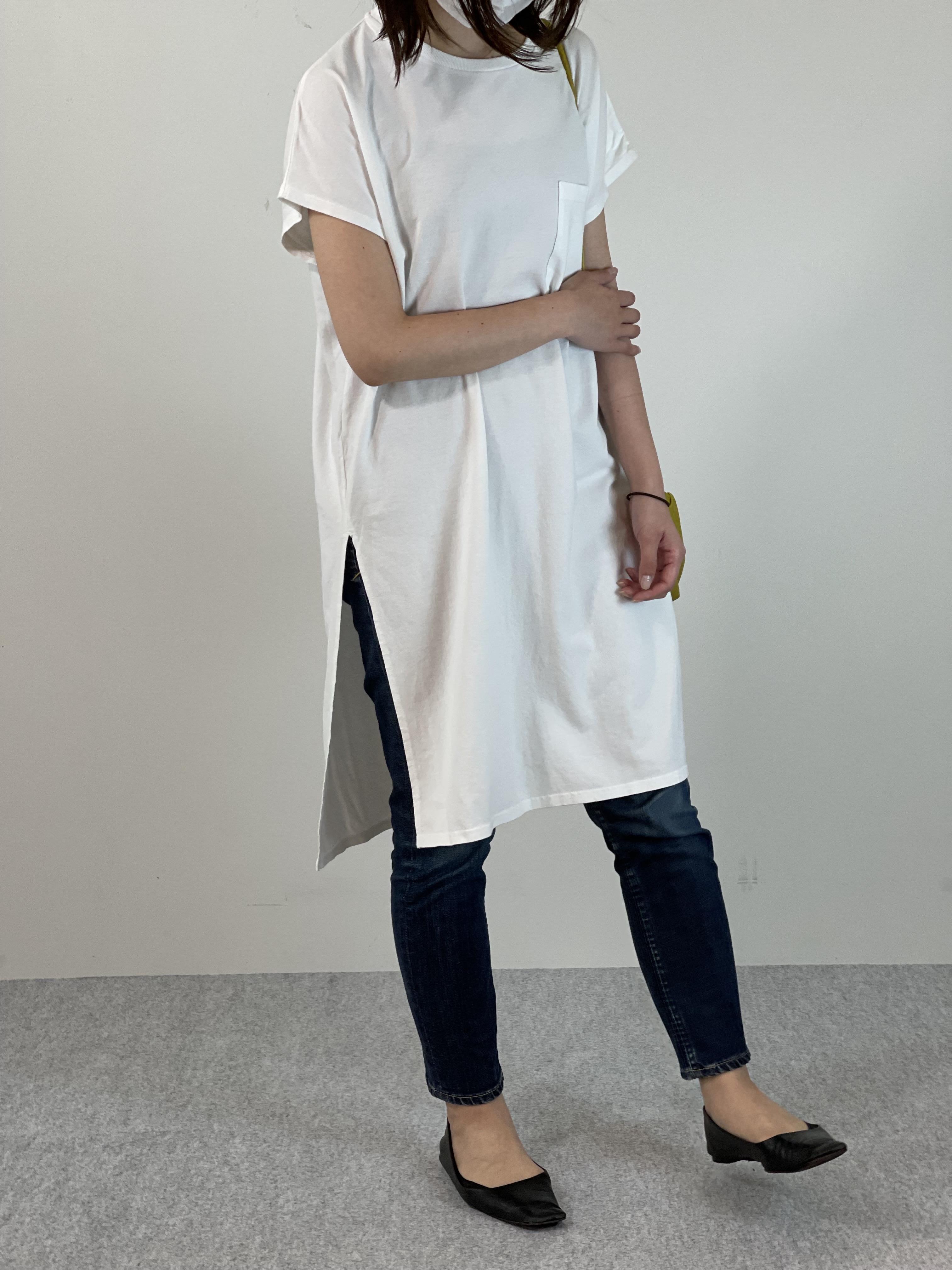 Women's COMFORT DRESS TUNIC T-SHIRTの着用画像2