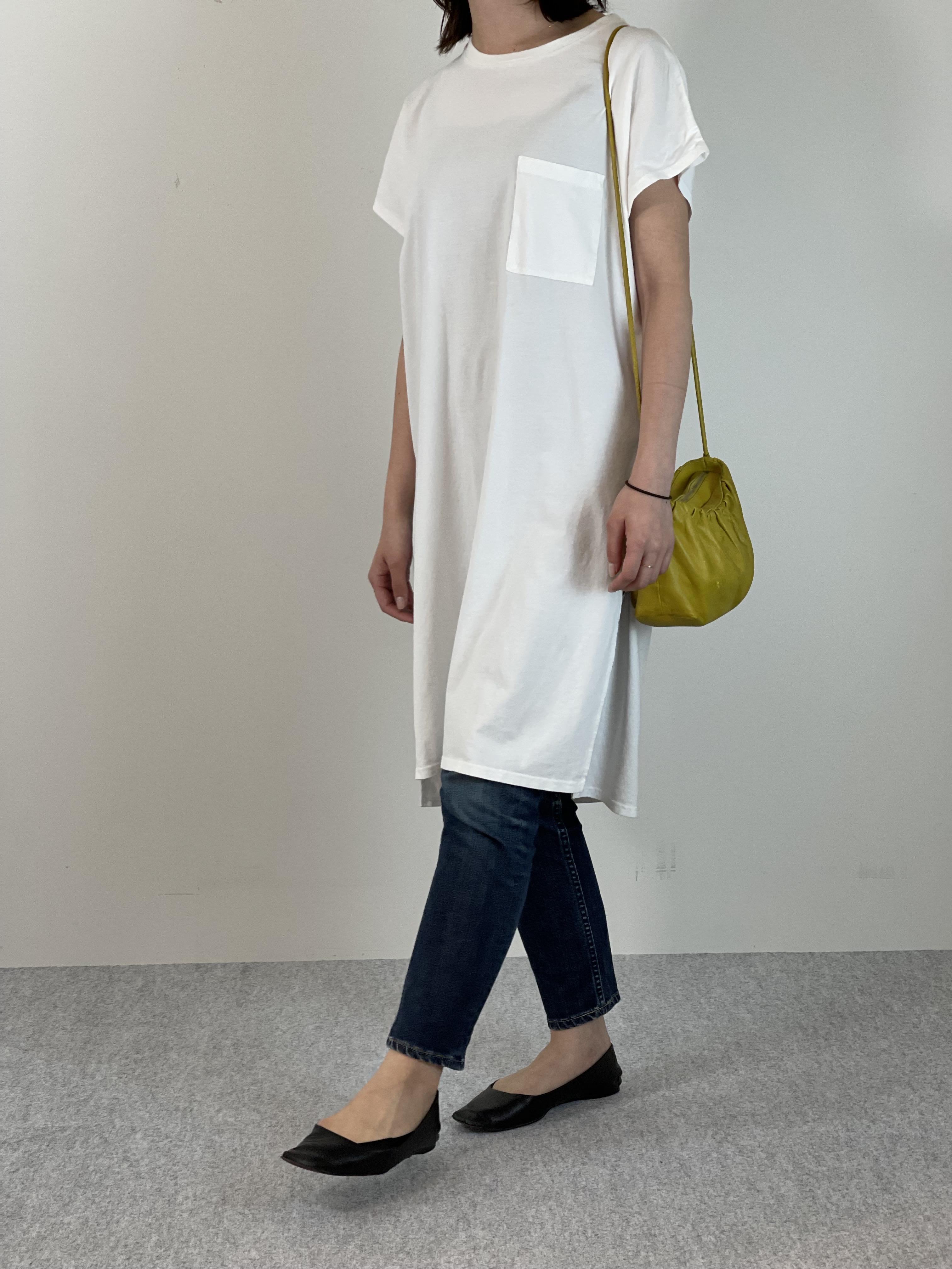 Women's COMFORT DRESS TUNIC T-SHIRTの着用画像3