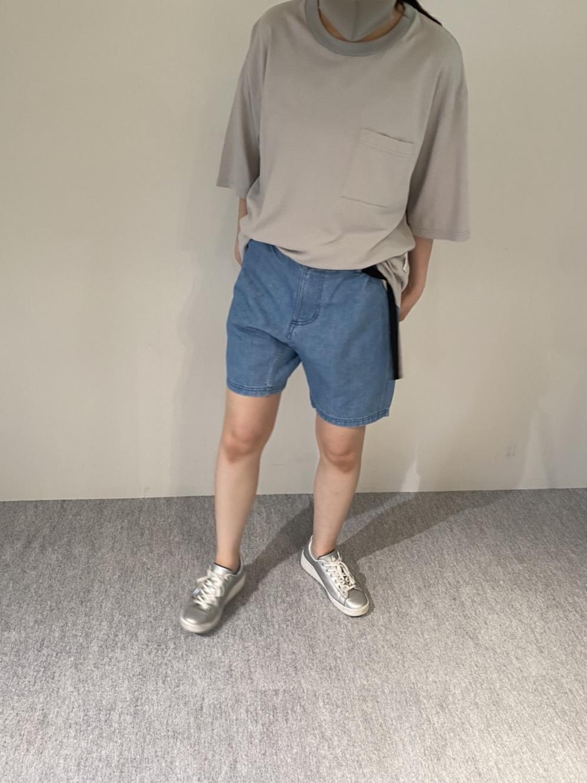 Mens 10.5oz DENIM CLIMB SHORT PANTSの着用画像5