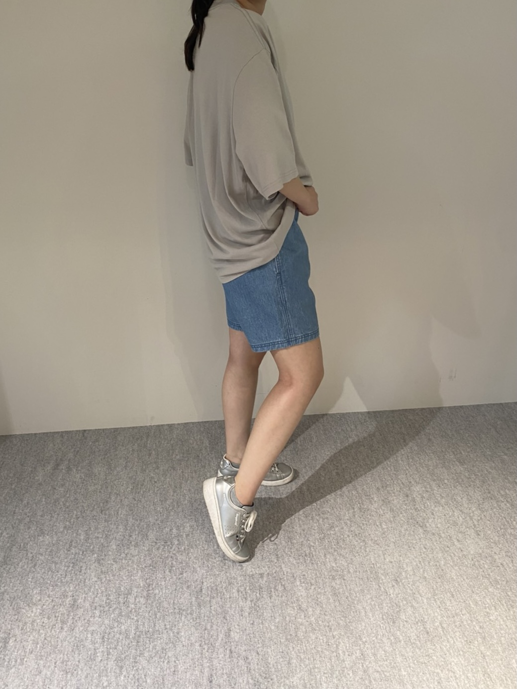 Mens 10.5oz DENIM CLIMB SHORT PANTSの着用画像6