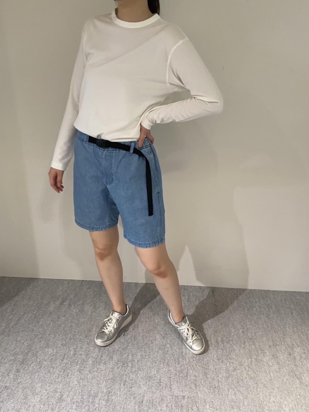 Mens 10.5oz DENIM CLIMB SHORT PANTSの着用画像8
