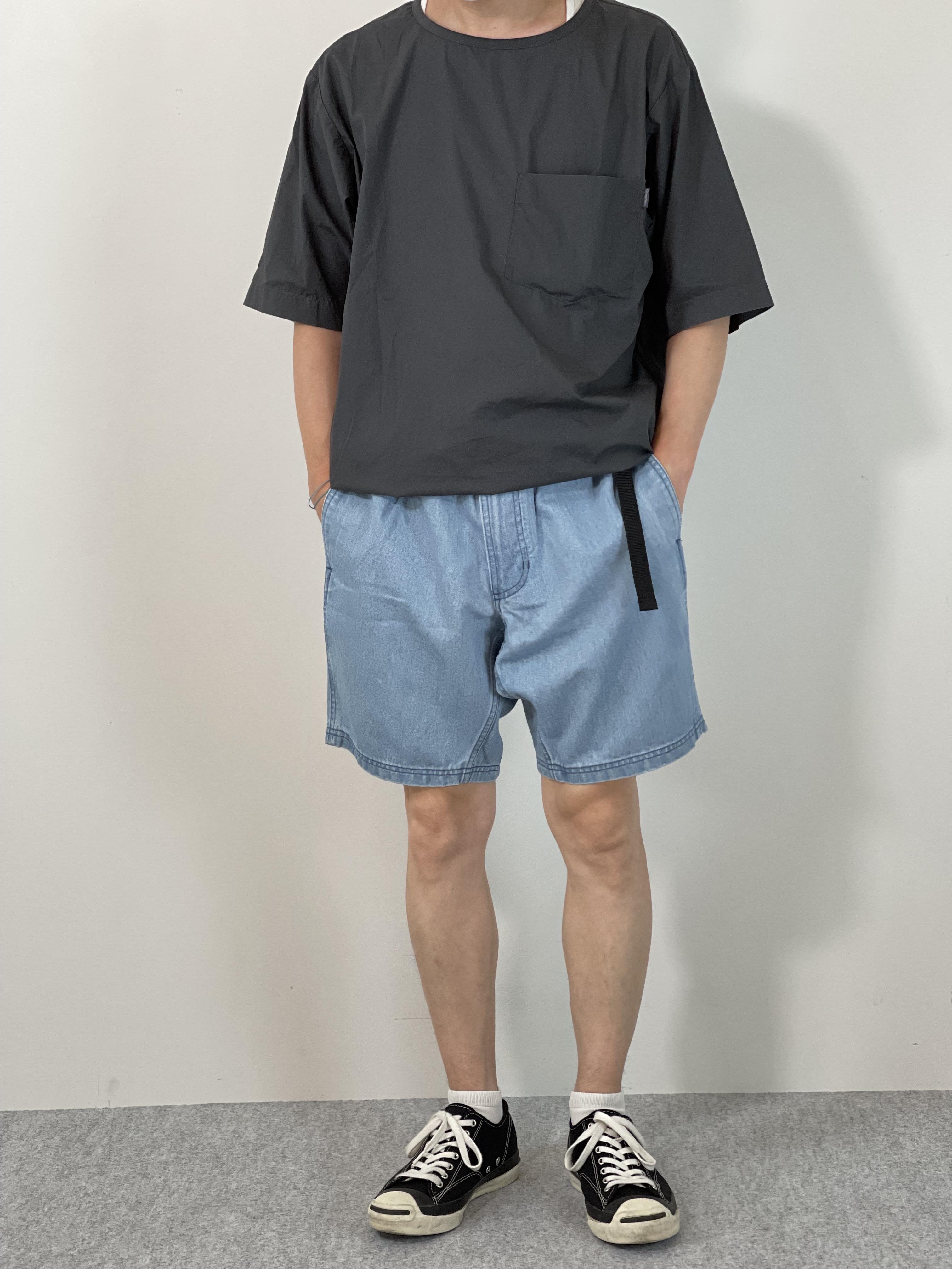 Mens 10.5oz DENIM CLIMB SHORT PANTSの着用画像0