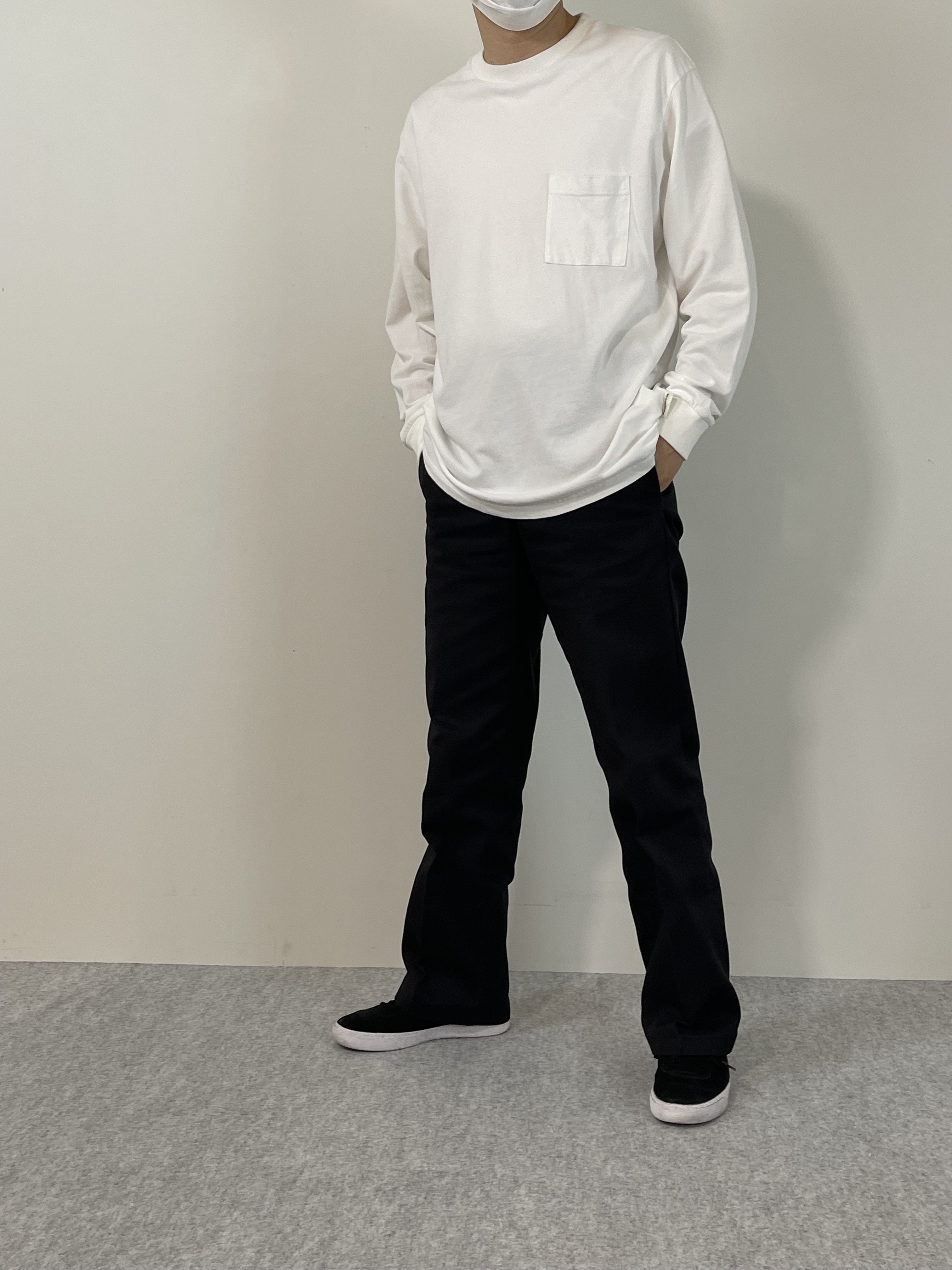 Genderless COMFORT L/S T-SHIRTの着用画像0