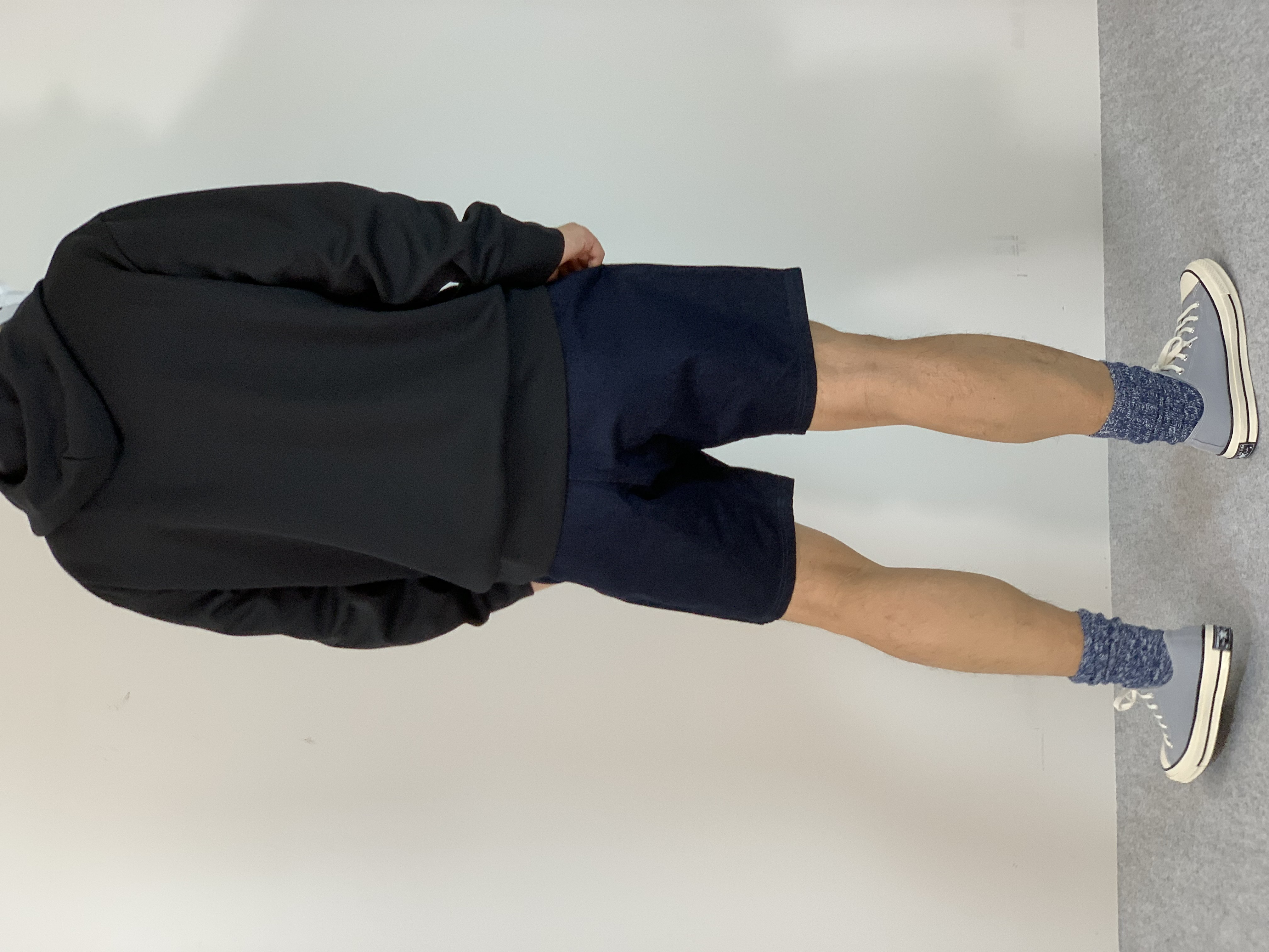 Genderless HYBRID SWEAT ZIP HOODYの着用画像2