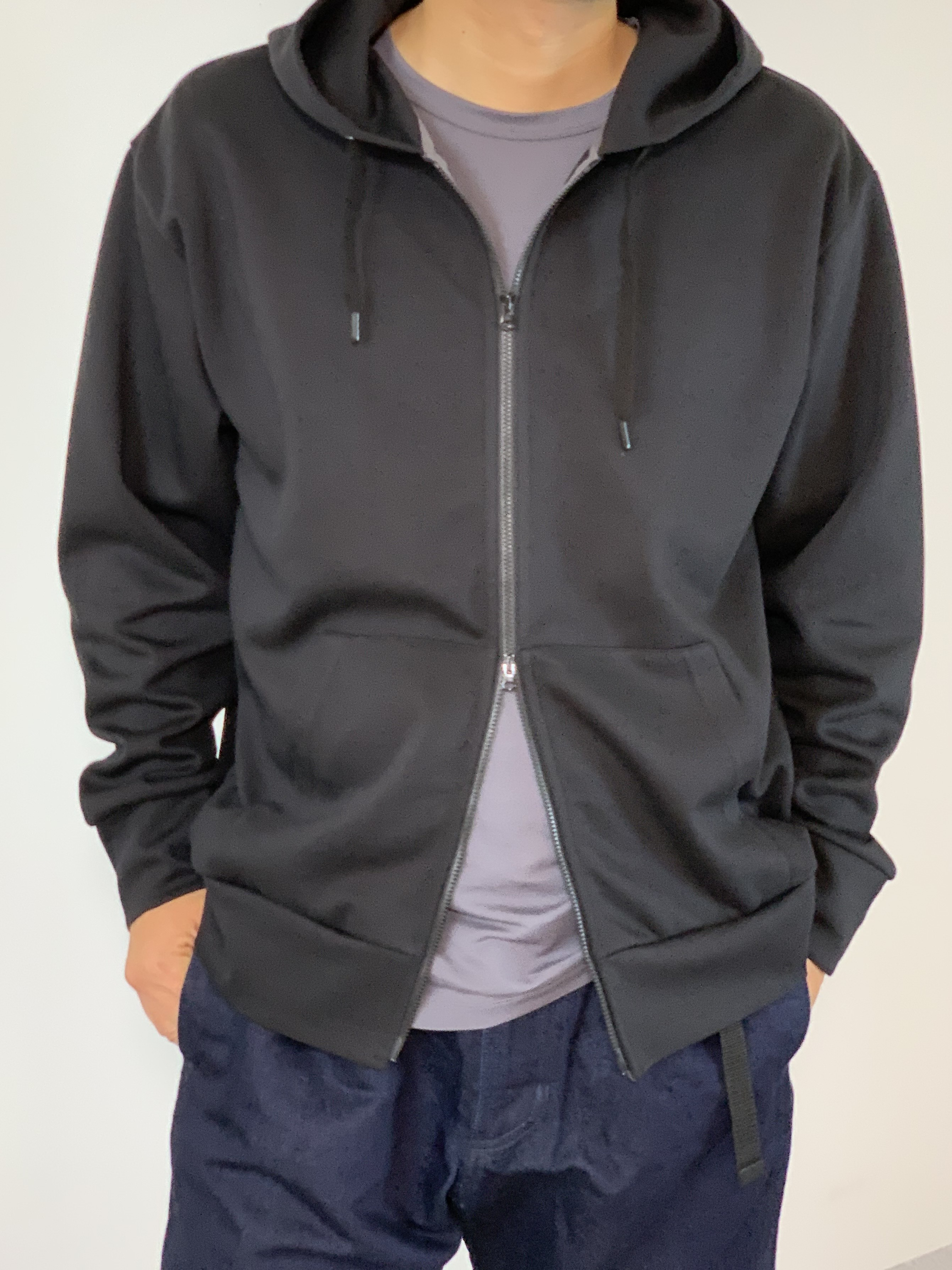 Genderless HYBRID SWEAT ZIP HOODYの着用画像0